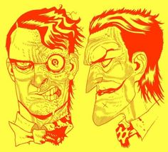 Two-Face and The Joker by Dan Hipp