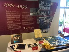 The new #CCAC Then & Now exhibit is officially up! This third panel shows #CCAC history from 1986-1996. #CCAC50
