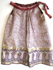 recycled sari dresses for kids