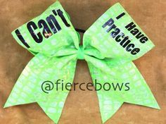 'I can't I have practice' boww