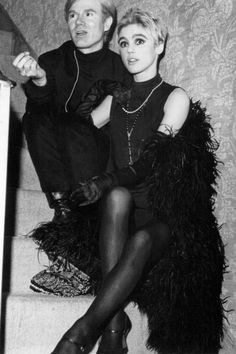Andy Warhol and Edie Sedgwick | 60's Fashion — Andy Warhol  Edie Sedgwick.