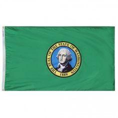 Nyl-Glo Washington Flag-Assorted Sizes http://www.pacificcoastflag.com/nyl-glo-washington-flag-1.html