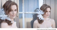 Romantic bridal hair wavy side pony hairstyles with dramatic hair flower by Hair Comes the Bride. Pony Hairstyles, Wedding Hairstyles, Bridal Hair And Makeup, Hair Makeup, Romantic Bridal Hair, Retro Wedding Hair, Dramatic Hair, Photo Makeup, Brides And Bridesmaids