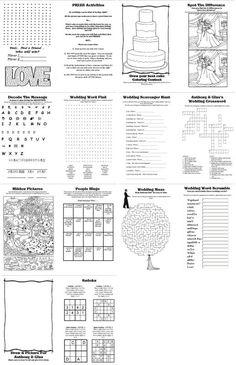 DIY wedding activity book for kids