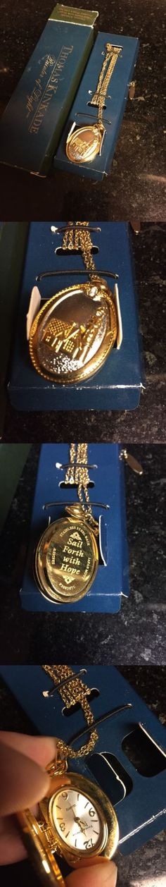 Necklace Watches 10329: Thomas Kinkade Lighthouse Pendant Stainless Steel Quartz Analog Watch Mib -> BUY IT NOW ONLY: $35 on eBay!