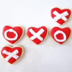 Valentines XO Hearts Cookies