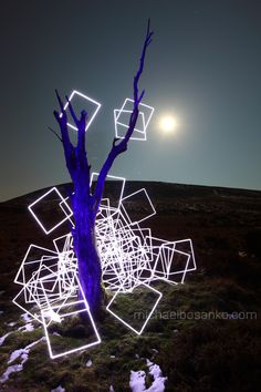 """Light Painting - """"Last of the Squares"""" - Exposure time 243 seconds - Michael Bosanko - 6/04/2012 #"""