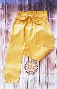 High Waist Mustard Color Pants Mustard Pants, Color Pants, Girly Girls, Baby Pants, Pants Outfit, High Waisted Shorts, Fashion Pants, Toddler Girl, Toddlers