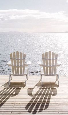 Two Adirondack chairs Good Vibe, Look Here, Am Meer, Lake Life, Beach Cottages, My New Room, Summer Aesthetic, Summer Vibes, Weekend Vibes