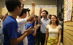 Democrat eyes anti-Trump upset in high-stakes Georgia race   By AFP      ROSWELL, GA – JUNE 19: Democratic candidate Jon Ossoff arrives wi...