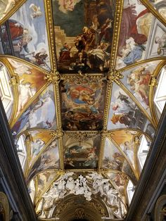 4. Magnificent church ceiling in Piazza dei Crociferi, 49, Rome, Italy. http://aha.pub/RomeChurches @HappyAbout