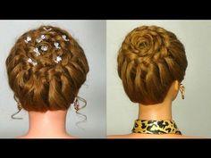 Прическа на каждый день с плетением. Braided hairstyle for every day