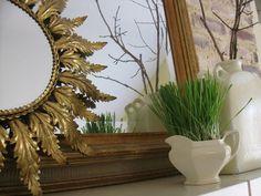 Simple Details: spring mantel & bookcase