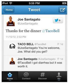 Taco Bell + Diarrhea------True true......lol