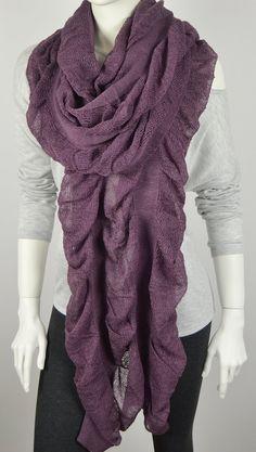 BUY 1 & GET 1 FREE  Purple Knitted Scarf  Wool by LIFEPARTNER, $18.40