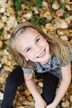 Looking UP to get all the pretty fall leaves Child portrait Glitzz Photography