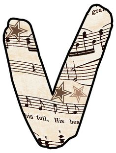 Vintage Sheet Music in beige / tan -  Free crafty clipart prints for your decoupage scrapbooks greeting c...
