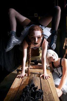 contortion handstand backbend