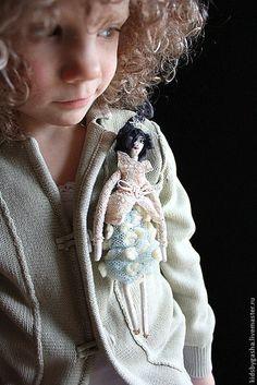 Детская бижутерия ручной работы. Брошь KB15006. K I D S by Irena Gasha. Ярмарка Мастеров. шерсть