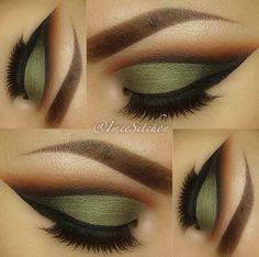 Makeup blending eyes lips eyeshadow color bright lashes eyeliner pretty.
