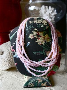 1980s Opaque Pink Layered Necklace....would be pretty in mint too