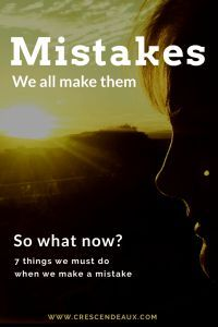 We all make mistakes - but then what do we do?