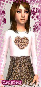 leopard heart dress