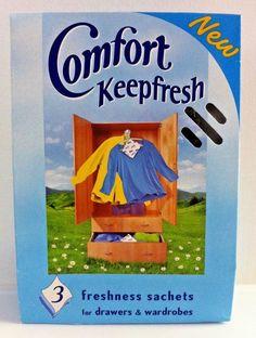Comfort KEEPFRESH Sachets - 3 per box - Make Drawers and Wardrobes smell fresh.