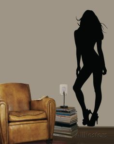 Pinup Girl Wall Decal at AllPosters.com