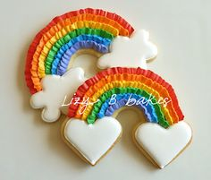 Rainbow Ruffle Cookies