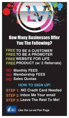 Message me and let me know if you're interested for more information on becoming a customer or promoter and your email address. successwithlevel@gmail.com