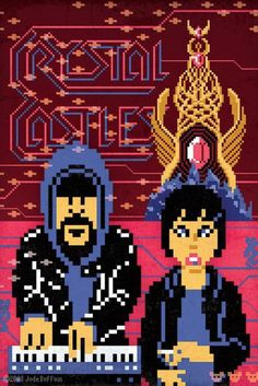 Crystal Castles (it's so kewl that's she-ra's crystal castle behind them!)