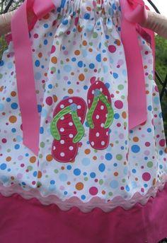 flip flop pillowcase dress. $29.99, via Etsy.