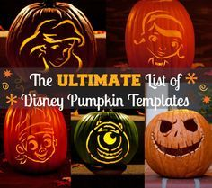 Free Disney Pumpkin Carving Templates http://www.mommymusings.com/disney-pumpkin-carving-templates/
