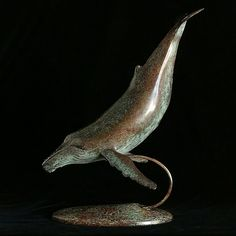 Limited edition Bronze, by artist Neil Parkin Humpback Whale, Sculptures, Bronze, Artist, Animals, Animales, Animaux, Artists, Animal
