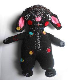 Funny black bunny by miliaart