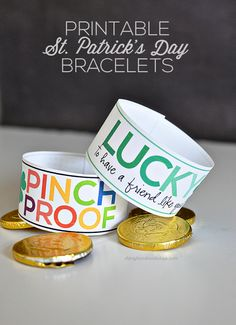 Printable St. Patrick's Day Bracelets