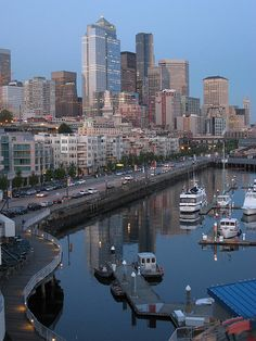 Seattle Washington Alaska Way bay
