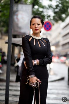 #TinaLeung looking fabulous in Valentino in Paris.