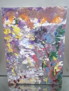 NYC CANVAS PAINTING BY MUSK YAI 9X12 GRAFFITI ABSTRACT 2013~DOUBLE SIDED VDS #Abstract