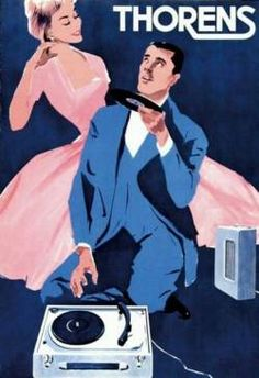 While perusing the Internet we've stumbled upon dozens of fantastic vintage advertisements from various eras of Thorens' year history. Here's a gallery of retro, old-school Thorens turntable and record player ads. Audio Vintage, Pub Vintage, Vintage Vinyl Records, Radios, Elegant Couple, Record Players, Vinyl Music, Music Images, Retro Design