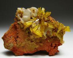 LEGRANDITE crystals w/ Smithsonite  Mina Ojuela Mine