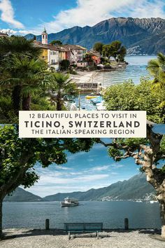 Beautiful Places to Visit in Ticino Switzerland 12 places you can't miss in the Italian-speaking region of Switzerland, Ticino. The perfect addition to your Swiss or Italy places you can't miss in the Italian-speaking region of Switzerland, Ti Beautiful Places To Visit, Cool Places To Visit, Places To Travel, Places To Go, Beautiful Beaches, Switzerland Itinerary, Switzerland Vacation, Switzerland House, Switzerland Christmas