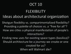 Architectural organization - FLEXIBILITY