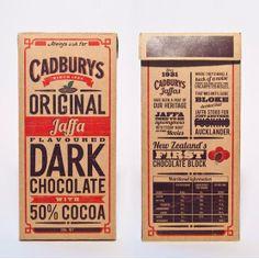 Cadburys original jaffa flavoured dark chocolate with 50% cocoa