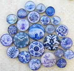 Delft Blue and White China Blue Transferware by AKAdecorativeart, $46.00