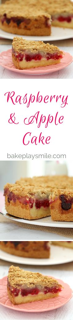 This Raspberry & Apple Crumble Cake has the perfect butter cake base, topped…