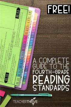 education - A Complete Guide to the Fourth Grade Reading Standards Reading Lessons, Reading Resources, Reading Strategies, Reading Skills, Teaching Reading, Guided Reading, Reading Comprehension, Shared Reading, Teaching Ideas