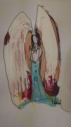 Painting, Art, Humanoid Sketch