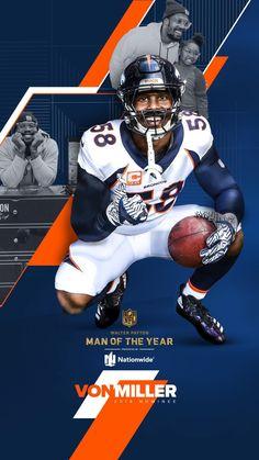 Von Miller – Daily Sports News Nfl Football Live, Pro Football Teams, Football Uniforms, Football Memes, Denver Broncos Football, Go Broncos, Broncos Fans, Denver Broncos Wallpaper, Super Bowl